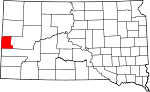 State map highlighting Lawrence County