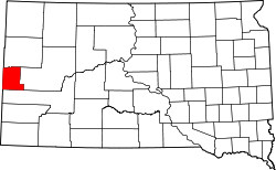 Map of South Dakota highlighting Lawrence County.svg