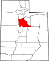 State map highlighting Utah County