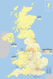 Map of the administrative geography of the United Kingdom