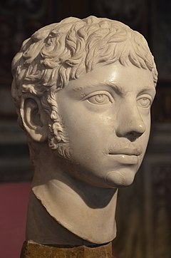 Marble bust of Roman emperor Elagabalus, ca. 221 AD, Capitoline Museums (20635520698).jpg