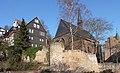 Marburg Westliche Stadtmauer Kugelkirche von SW.jpg