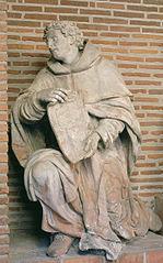 Le prophète Agabus présentant le plan de la chapelle Notre-Dame-du-Mont-Carmel