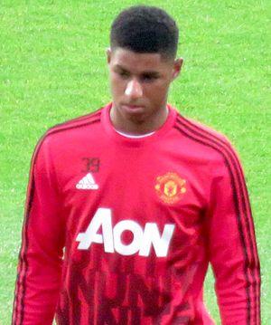 Marcus Rashford - Rashford warming up for Manchester United in 2016