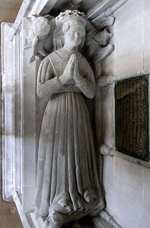 Thomas de Courtenay, 5th/13th Earl of Devon - Effigy of an unknown female, possibly Margaret Beaufort, Church of St Andrew,  Colyton, Devon