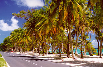 Dependencies of Guadeloupe - Road of Marie-Galante.