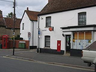 Market Lavington village in the United Kingdom