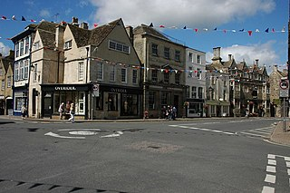 Tetbury town and civil parish within the Cotswold district of Gloucestershire, England
