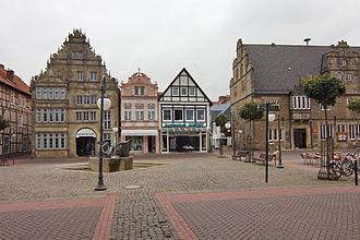 August Friedrich Wilhelm Crome - Market place in Stadthagen.