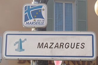 Mazargues - Street sign