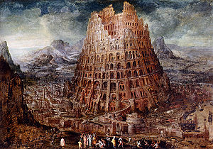 Der Thurm zu Babel - The Tower of Babel by Marten van Valckenborch (c. 1600)
