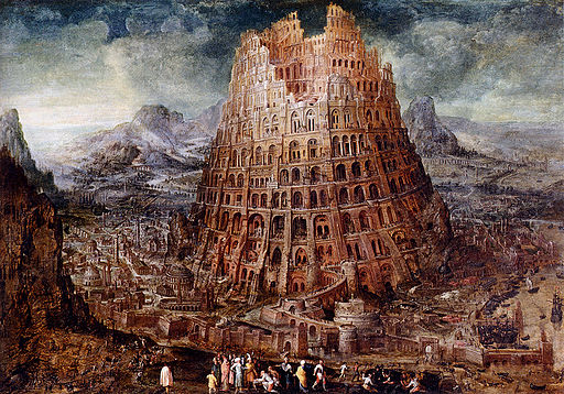 Marten van Valckenborch Tower of babel-large