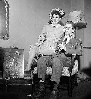 Martha Scott - Scott with husband Mel Powell in 1947
