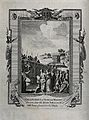 Martyrdom of Calepodius, a Christian minister. Engraving. Wellcome V0031764.jpg
