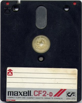 Floppy disk variants - A Maxell-branded 3-inch Compact Floppy Disk