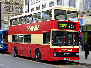 Scania N113 - Mayne Coaches Northern Counties bodied Scania N113DRB in Manchester in June 2006