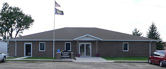 McPherson County, Nebraska - Image: Mc Pherson County, Nebraska courthouse from E