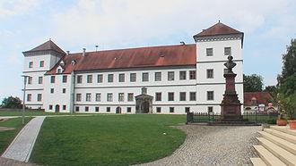 Meßkirch Castle - Eastern aspect showing the Conradin Kreutzer Monument