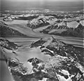 Meade Glacier, cirque glacier in the foreground joining the valley glacier in the background, August 27, 1969 (GLACIERS 5248).jpg