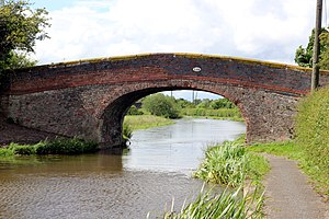 Listed buildings in Stoke, Cheshire West and Chester - Image: Meadow Lane Bridge