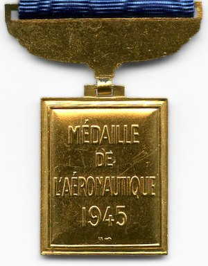Aeronautical Medal - Reverse of the Médaille de l'Aéronautique
