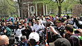 Media and crowd reaction at Occupy New haven.JPG