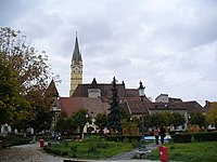 Medias - city centre & St. Margaret Church - panoramio.jpg