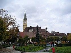 Medias - city centre & St. Margaret Church - panoramio.jpg