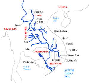 Mekong and its main tributaries.