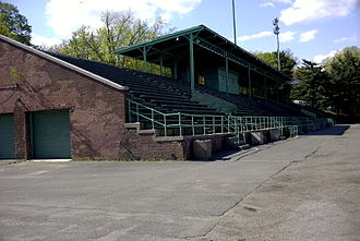 Mount Vernon, New York - The grandstand at Memorial Field. The aging structure was finally demolished in May 2018.
