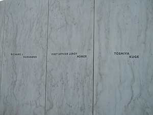 LeRoy Homer Jr. - Homer LeRoy Jr names on the Flight 93 National Memorial