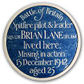 Memorial Plaque to Sqn Ldr Brian Lane DFC.jpg