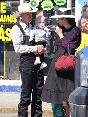 Campeche - Mennonite family in Campeche