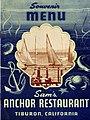 Menu, Sam's Anchor Restaurant, Tiburon (12001526513).jpg