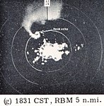 Meriden, Kansas, tornado as observed by the Topeka Weather Bureau WSR-3 radar.jpg