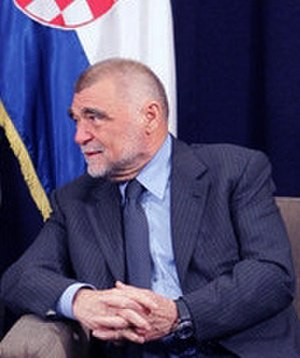 Stjepan Mesić - Mesić during a May 2006 meeting with then-US Vice President Dick Cheney in Dubrovnik