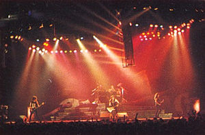 ...And Justice for All (album) - Metallica onstage during the Damaged Justice Tour, 1989