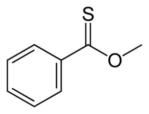 Thioester - Skeletal formula of methyl thionobenzoate