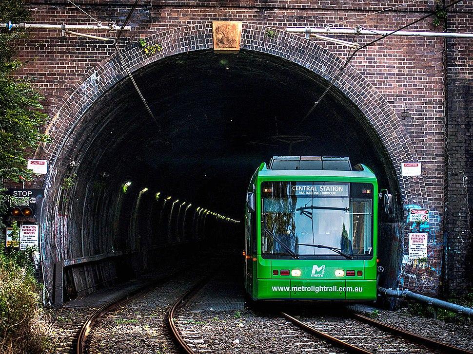 Metro Light Rail Glebe Tunnel Entrance