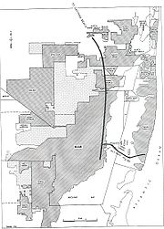A map of Miami from 1955
