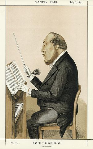 Michael Costa (conductor) - Costa by lyall in Vanity Fair, 1872