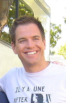 Michael Weatherly Weatherly on the set of NCIS