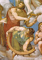 Michelangelo, giudizio universale, dettagli 24 san biagio e santa caterina.jpg
