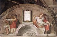 Michelangelo - Sistine Chapel - Lunette Eleazar and Mathan - WGA