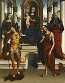 Michele di Luca dei Coltellini - Madonna and Child Enthroned with Saints - Walters 37880.jpg