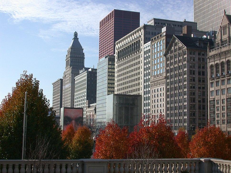 MichiganAveFromMilleniumPark ChicagoIL