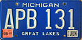 Michigan License Plate APB 131.JPG