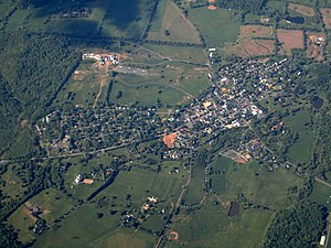 Middleburg, Virginia - Aerial view of Middleburg