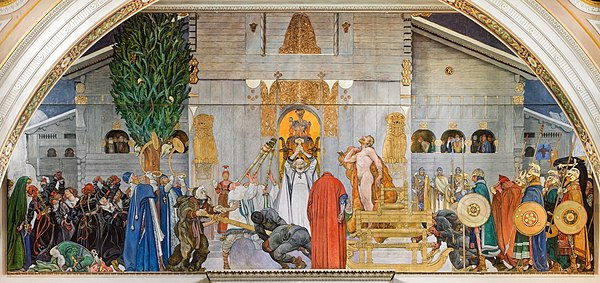 "Midvinterblot ("" Midwinter Blót/Sacrifice""), oil painting by Carl Larsson in Swedish National Museum of Fine Arts, Stockolm."