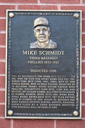 Mike Schmidt - Image: Mike Schmidt Hall of Famer (2795682869)